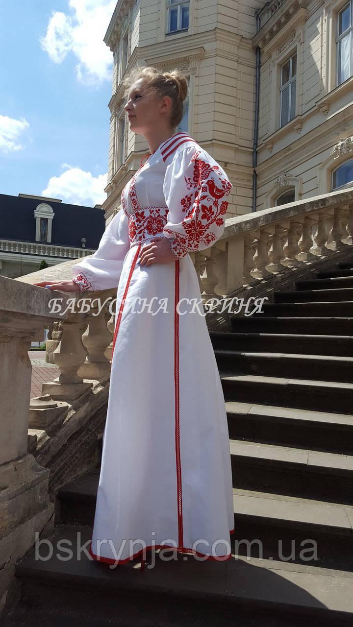 Заготовка жіночої сукні для вишивки нитками/бісером БС-107с