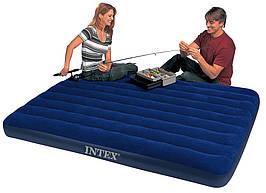 Двоспальний гумовий матрац Intex 68759 (203 см х 152 см) темно-синього кольору