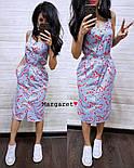 Женское летнее платье в полоску с цветами (2 цвета), фото 3