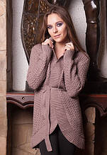 S-L / Вязаный женский кардиган Kastel, коричневый