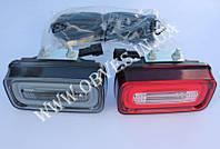 Диодные фонари заднего бампера Mercedes G-class W463 (красный+дымчатый), фото 1
