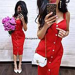 Женское повседневное однотонное льняное платье (3 цвета), фото 5