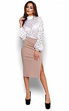M (44-46) / Классическая женская юбка Anfisa, бежевый