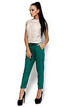 L (46-48) / Женские габардиновые брюки Bress, зеленый