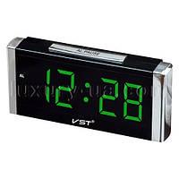 Часы сетевые 731-4 салатовые