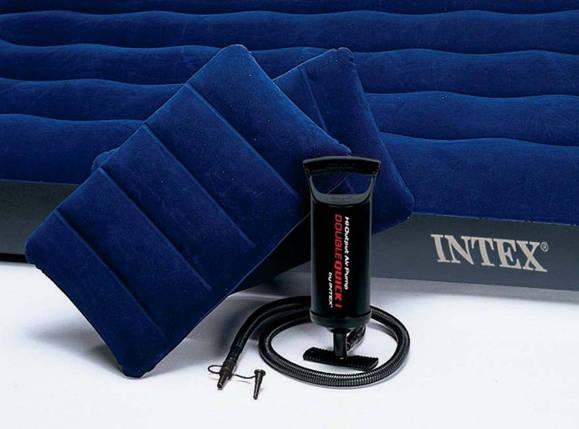 Надувный матрас Intex 68765 насос, подушки (203х152х23 см) , фото 2