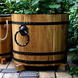 Деревянное кашпо для цветов Seven Seasons™ с коваными ручками, 32 литра (WT-1825)