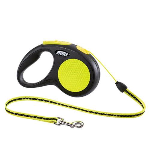 поводок-рулетка для собак Flexi neon S 5 m шнур трос