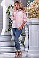 Красивая женская рубашка 2656 персик, фото 3