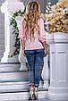 Красивая женская рубашка 2656 персик, фото 5