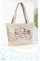 Пляжная сумка Gepur Signature льняная, летняя сумка
