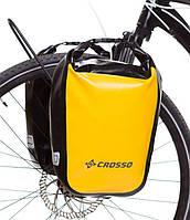 Велосумка Crosso DRY SMALL 30 L CLICK Жёлтая (Велобаул, Велорюкзак на багажник) (CO1010C-yellow), фото 1