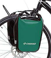 Велосумка Crosso DRY SMALL 30 L CLICK Зелёная (Велобаул, Велорюкзак на багажник) (CO1010C-green), фото 1