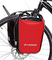 Велосумка Crosso DRY SMALL 30 L CLICK Красная (Велобаул, Велорюкзак на багажник) (CO1010C-red), фото 1