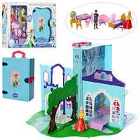 Замок LM2348 FR, принцессы,в книге-чемодане,32-43-43см,мебель,фигурки 2шт,в кор,53,5-36-10см(LM2348)
