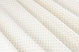 Ткань с кофейным горошком 3 мм на белом фоне (№1344а)., фото 3