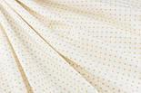 Лоскут ткани с кофейным горошком 3 мм на белом фоне (№1344а), размер 33*80 см, фото 4