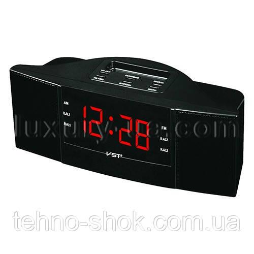 Часы сетевые 907-1 красные