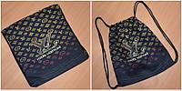 Прогулочная чёрная сумка-рюкзак Турция