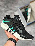 Мужские кроссовки Adidas Equipment (черные), ТОП-реплика, фото 1