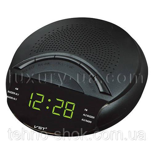 Часы сетевые 903-2 зеленые