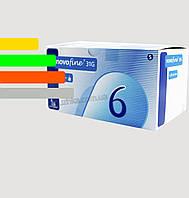 Голки для інсулінових шприц-ручок Новофайн 6 мм - Novofine 31G, #100