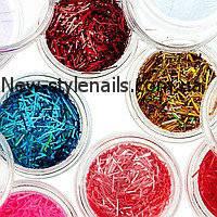 Набор для дизайна ногтей стружка(цветные),12 шт в упаковке