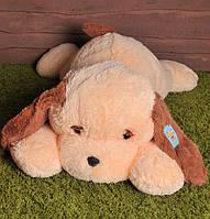 """Большая мягкая игрушка - собачка """"Тузик"""" (персиковый) 90 см."""