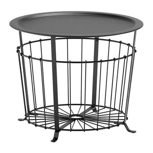 Столик с местом для хранения IKEA GUALÖV 60 см черный 703.403.79