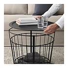 Столик с местом для хранения IKEA GUALÖV 60 см черный 703.403.79, фото 3