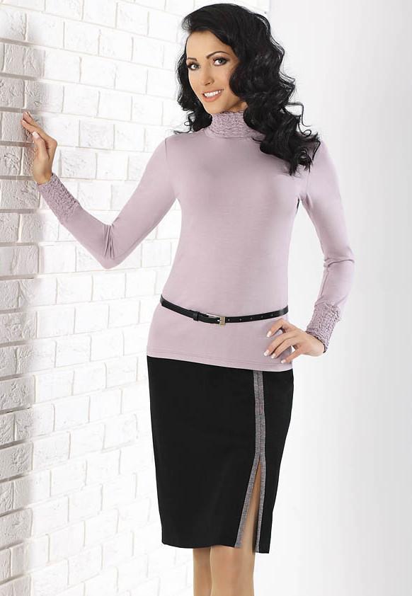 Женская юбка черного цвета с разрезом. Модель Galia Top-Bis.