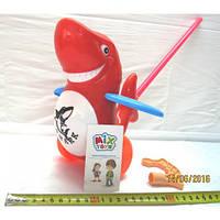 Каталка акула, на палке, в пакете 23-24см (SH 986-9)