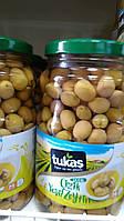 Оливки TUKAS CIZIK YESIL ZEYTIN (оливки зеленые подряпаные) 1700g/1000g, фото 1