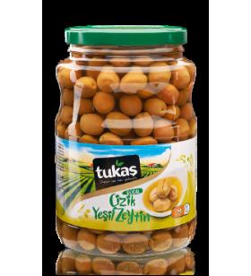 Оливки CIZIK YESIL ZEYTIN (оливки зеленые надрезанные), 1700g/1000g, ТМ TUKAS
