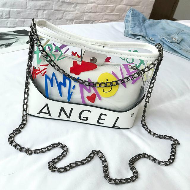 Силиконовая сумочка Angel белый