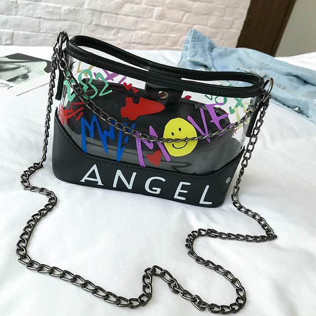 Силиконовая сумочка Angel черный