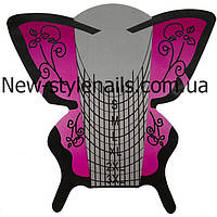 Форма для наращивания ногтей широкая (розовая бабочка) 3 XL, фото 1