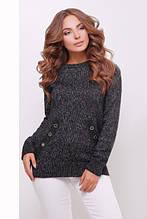 S-L / Вязаный свитер-реглан Nessi, черный