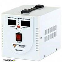 Стабилизатор FORTE TDR-2000VA напряжения релейного типа, мощность 2000 ВА, точность 8%, вес 5,33 кг