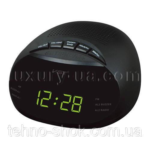 Часы сетевые 901-2 зеленые