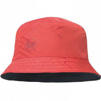 Buff Travel Bucket Hat collage red/black