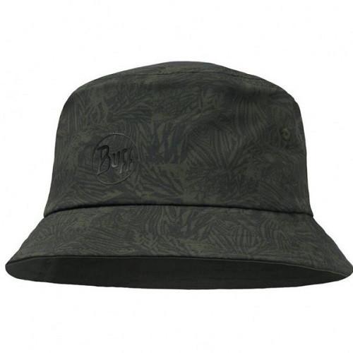 Buff Travel Bucket Hat checkboard moss green