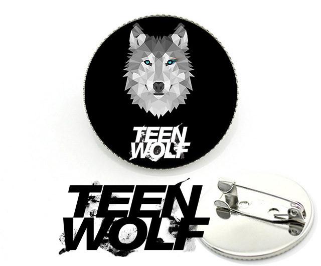 Значок брошь с изображением волка и логотипа Teen Wolf Волчонок