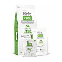 Brit Care Adult Large Breed Salmon сухой корм для взрослых собак крупных пород Лосось и картофель 1 кг 1 кг 1 кг 12 кг