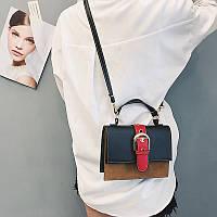 Женская сумочка маленькая через плечо черная из экокожи опт, фото 1