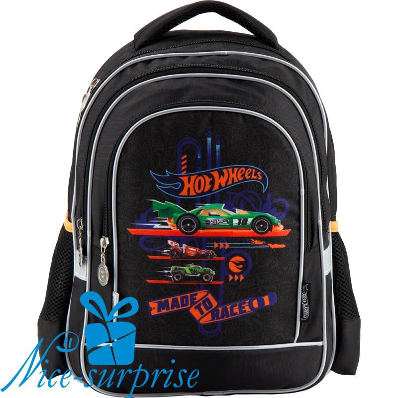f548962a9920 Ортопедический школьный рюкзак для мальчика Kite Hot Wheels HW18-509S