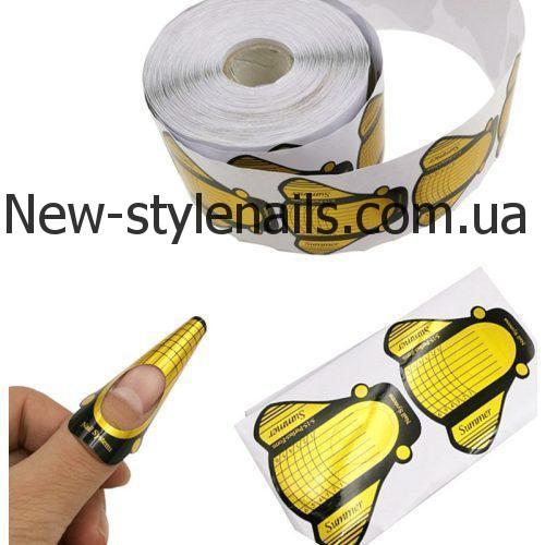Форма для наращивания ногтей золотая (муха) summer