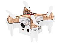 Квадрокоптер нано р/у Cheerson CX-10WD-TX з камерою Wi-Fi (бежевий), фото 1