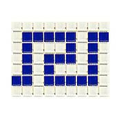 Фриз грецький Aquaviva Cristall W/B біло-синій для басейну