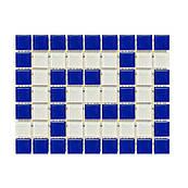 Фриз грецький Aquaviva Cristall B/W синьо-білий для басейну